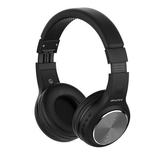Awei Sans Fil Bluetooth Over-ear Casque Stéréo Son Annulation De Bruit Avec Micro 10 H Long Temps Jeu