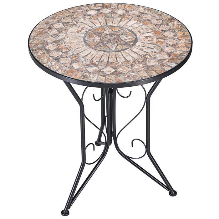 Table de jardin mosaique - Achat / Vente pas cher
