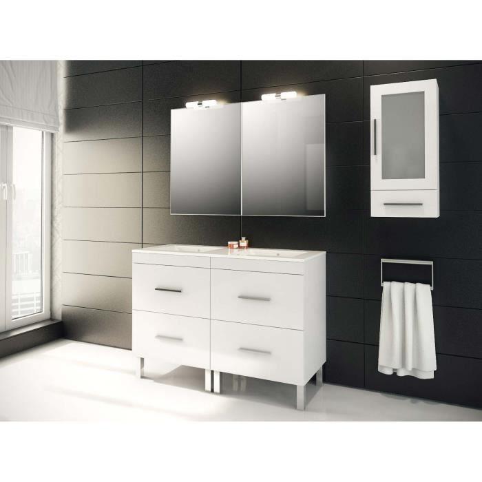 meuble salle de bain blanc 120 cm achat vente meuble salle de bain blanc 120 cm pas cher. Black Bedroom Furniture Sets. Home Design Ideas