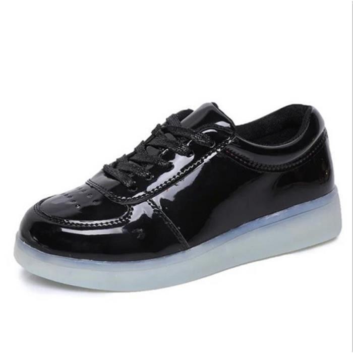 Les chaussures pour enfants chargement USB émettant chaussures légères garçons et chaussures filles chaussures de sport LED lumineux C2DEV