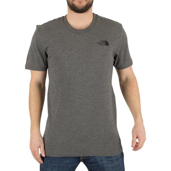4d673f0ac25a4 The North Face Homme T-shirt Simple Dome Marled Logo, Gris Gris Gris ...