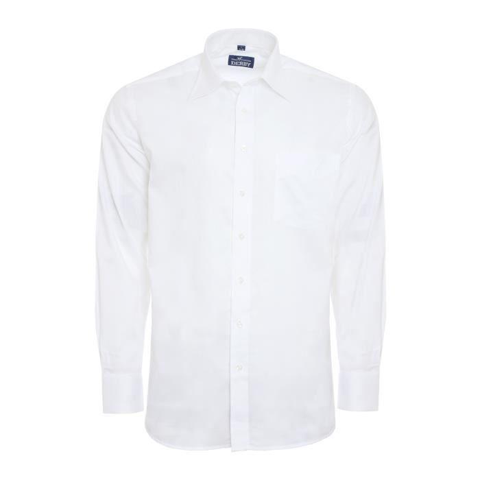 DERBY OF SWEDEN chemise à manches longues hommes blanc 1070 FG21 tW5tlj