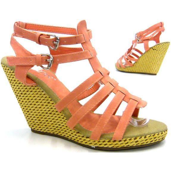 femmes chaussures l'escarpin sandales nouveau avec semelle à talon compensé blanc 41 M1tAq