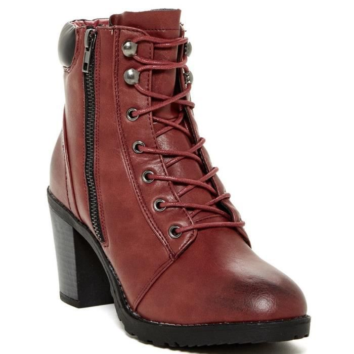 Roonies Womens Fashion Heeled Lace Up Boots IIGXE Taille-38