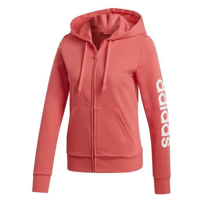 Sweat à capuche femme adidas Essentials Linear Rose Rose