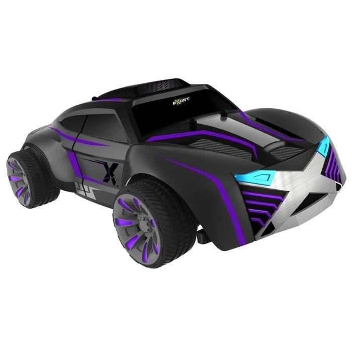 exost voiture t l command e noire mat et violette nova echelle 1 18 achat vente. Black Bedroom Furniture Sets. Home Design Ideas
