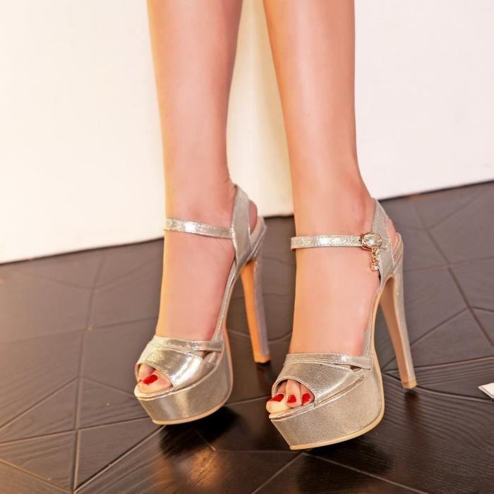SIMPLE FLAVOR Sandales chaussures femmes talon haut mode