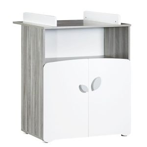BABY PRICE New Leaf Commode ? Langer 2 Tiroirs + 1 Grande Niche