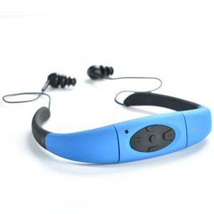 LECTEUR MP3 8GB étanche IPX8 Sports MP3 Player Neckband FM Rad