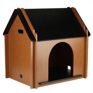 ACCESSOIRE ABRI ANIMAL Maison Nid Abri en bois pliable pour animaux de co