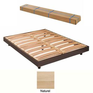 SOMMIER sommier demontable 90x190 kit spot vernis naturel