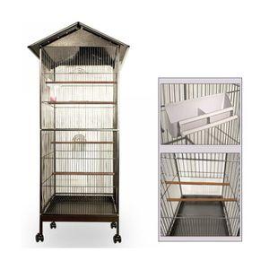 VOLIÈRE - CAGE OISEAU Superbe Volière cage à oiseaux metal canaries perr