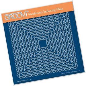 GABARIT DE DÉCOUPE Gabarit tracage du parchemin carrés demi cercle Gr