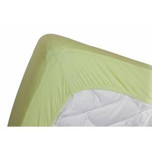drap housse vert anis achat vente pas cher. Black Bedroom Furniture Sets. Home Design Ideas