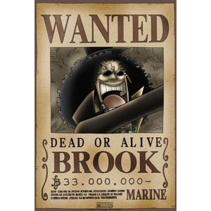 Poster one piece 39 wanted brook 39 52x38cm achat vente affiche poster cdiscount - Affiche one piece wanted ...