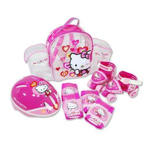 PATINETTE - TROTTINETTE HELLO KITTY Pack Mini Rollers + Set de Protections