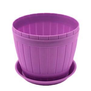 JARDINIÈRE - BAC A FLEUR Pot de Fleurs Plastiques Violet Grande avec châssi