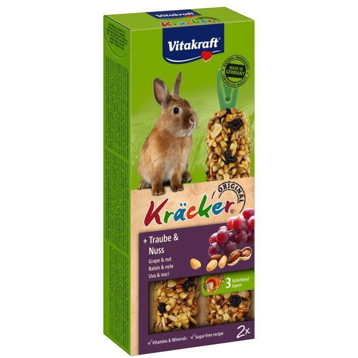 VITAKRAFT Kräcker Raisin et noix P/2 - Pour lapin nain