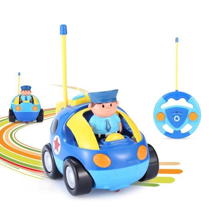 Enfants Bébé Et Musique Electrique Commande Voiture De Jouet Rc Radio Pour Véhicule Les Petits Bleu Télécommande OkZXPiuT