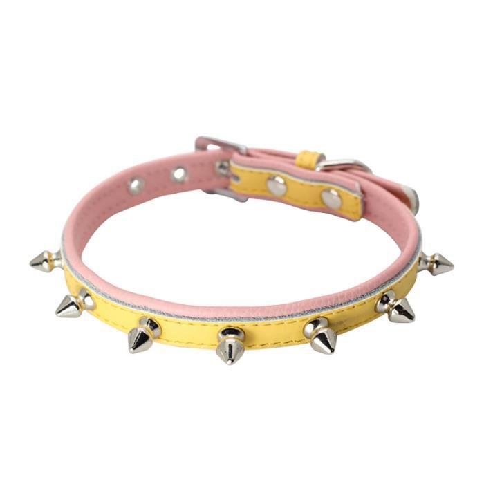 Collier Clouté Forte En Cuir Pour Grand Chien Pitbull Pet Mastiff Durable Collar1391
