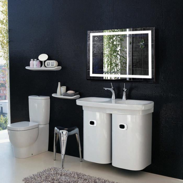 Miroir salle de bain LED,Miroir LED Lampe de Miroir Éclairage Salle ...