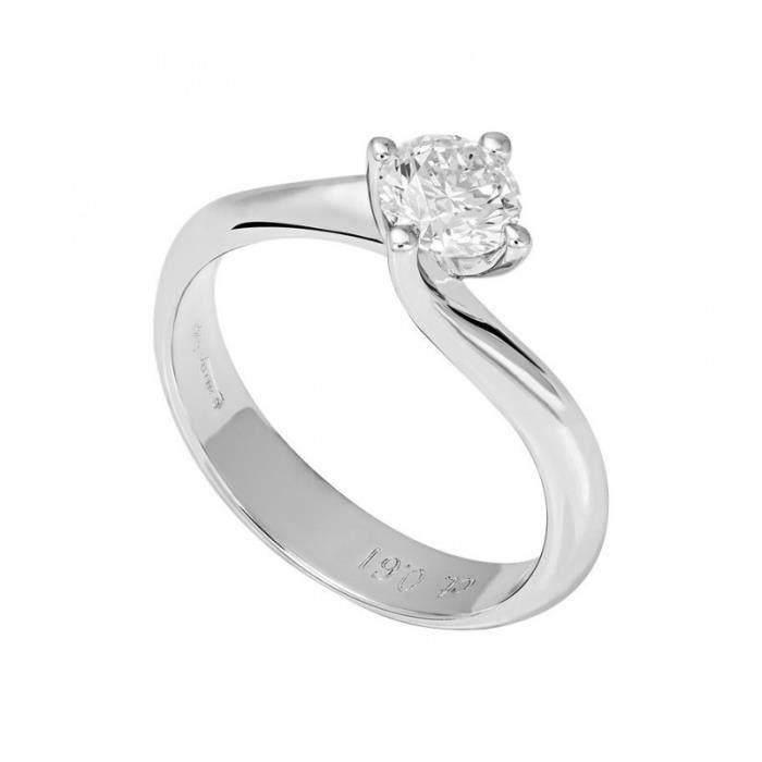 World Diamond Group - MONDE GROUPE DE DIAMANT SOLITAIRE BAGUE 18 KT BRILLANT 0,32 CT AB1625-032-B