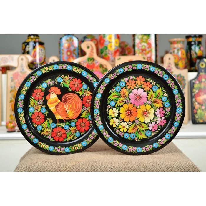 Assiettes décoratives fait main Vaisselle design Cadeau femme ...
