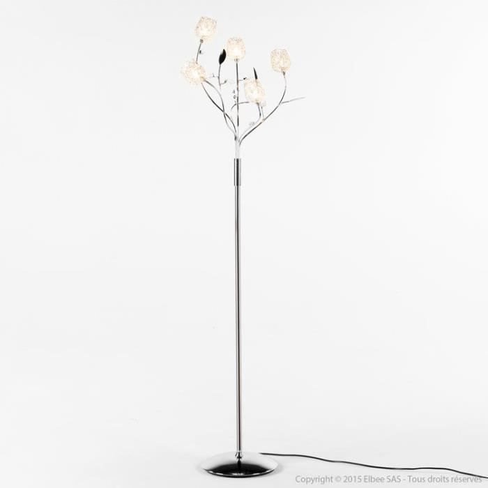 lampe a poser 2 lumieres adriana coloris chrome