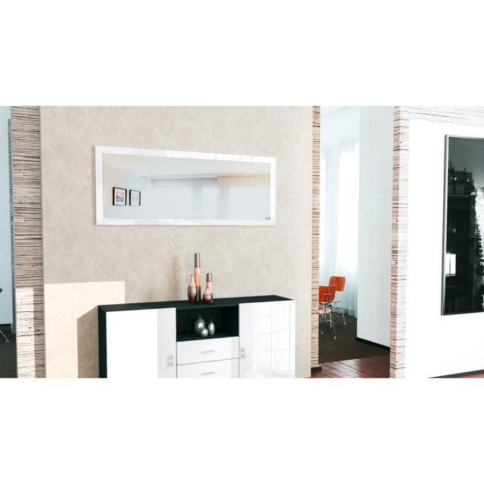 Miroir Blanc Mural : Miroir mural blanc laque achat vente pas cher