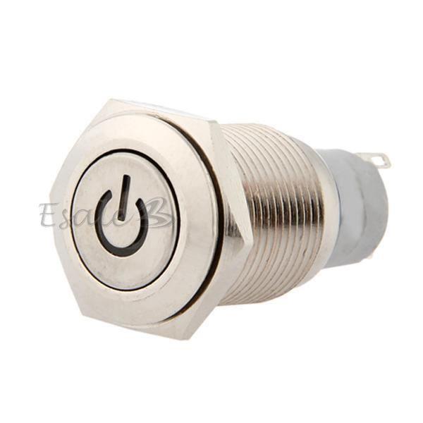 Bouton poussoir interrupteur electrique 12v 16mm led bleu pour voiture auto achat vente - Interrupteur bouton poussoir ...