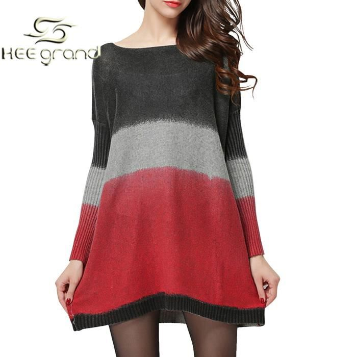 Robe tunique tricot femme