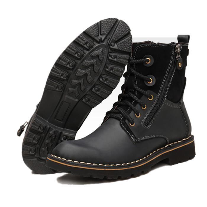 Hommes martin bottes d'hiver de haute qualité cuir cheville bottes automne et hiver Hommes chaussure Rh9YzVov