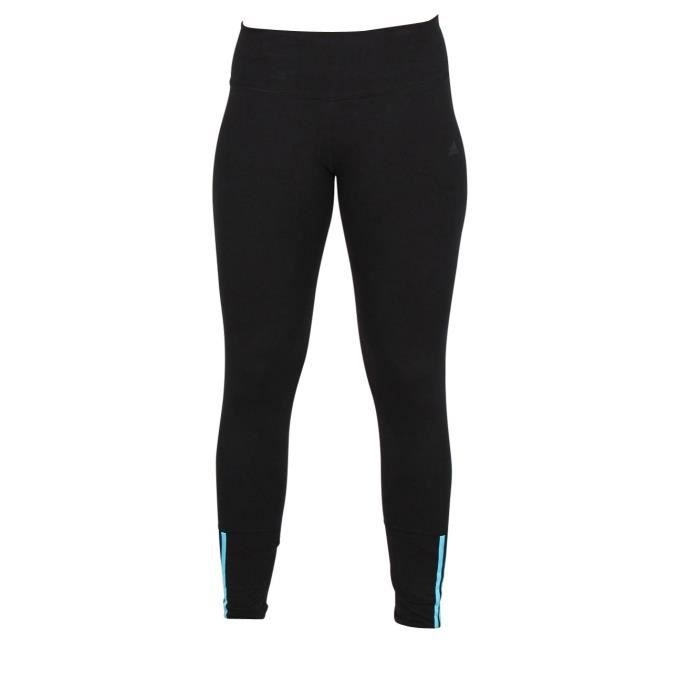 Adidas Performance Legging Ess Mid 3S AY4853 Noir   turquoise ... bf031515e13
