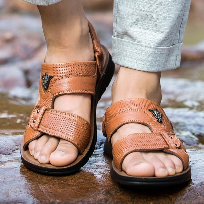 Nouvelle Mode D'été Sandale de Plage Respirant Hommes Sandales Causal