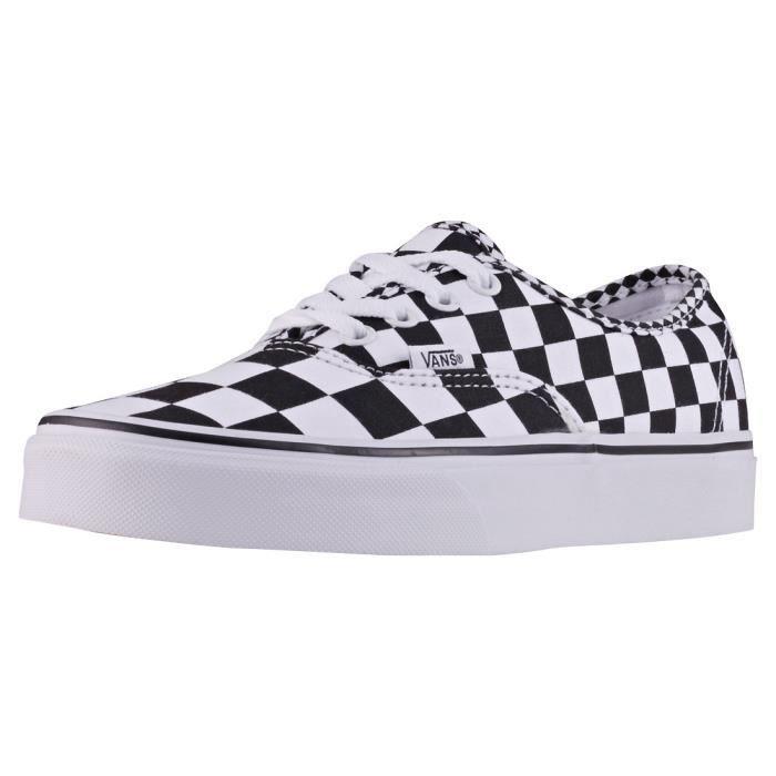 Vans Old Skool Checkerboard Mixte Baskets Blanc Noir 11 UK