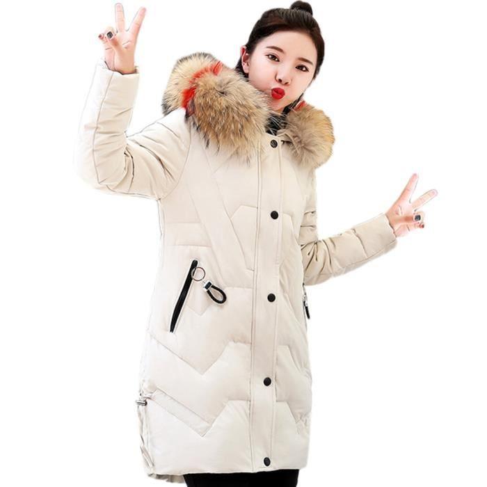Col Femmes Chaud Outwear yunsoel942 Thicker Coton Parka De Longue Capuchon À Slim Veste Fourrure Manteau AqUrwqXxf