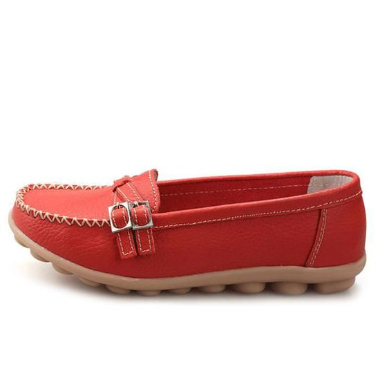 Ylg Mode Femmes Durable Loafer Mocassin Detente Chaussures xz088rouge38 0nONPkwX8