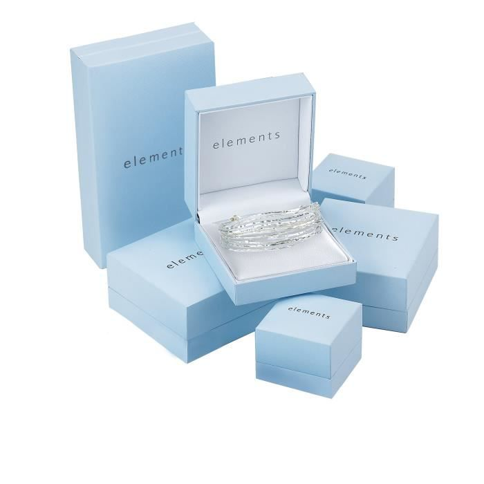 Elements - E4772 - Boucles Doreilles Femme - Feuille - Argent 925-1000 2 Gr W010O