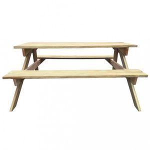 TABLE DE CAMPING Tables d'exterieur Table de pique-nique en bois 15