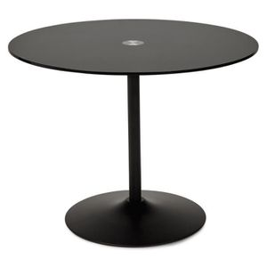 Table a manger ronde verre achat vente table a manger ronde verre pas che - Table a manger verre noir ...
