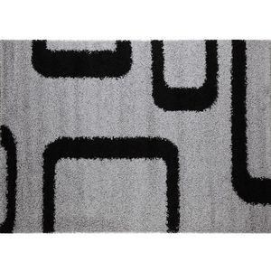 TAPIS Tapis de salon gris et noir PILULAS Gris L 125 cm