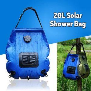 DOUCHE SOLAIRE 20L PVC Sac De Douche Solaire Pliable Camping BLEU