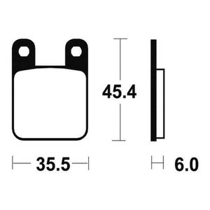PLAQUETTES DE FREIN BENDIX Plaquettes de frein moto MA59 - Organique
