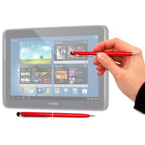 STYLET - GANT TABLETTE  Stylet/stylo 2 en 1 rouge pour Samsung Galaxy ...