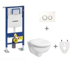 WC - TOILETTES Pack WC suspendu Geberit autoportant  Plaque de co