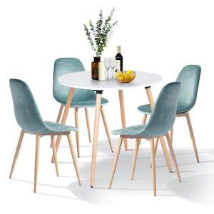 TABLE À MANGER COMPLÈTE Ensemble table à manger 2 à 4 personnes + 4 chaise