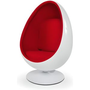 FAUTEUIL Fauteuil pivotant Oeuf Egg chair coque blanche / i