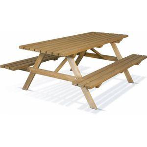 TABLE DE CAMPING Table de pique-nique Karel en bois