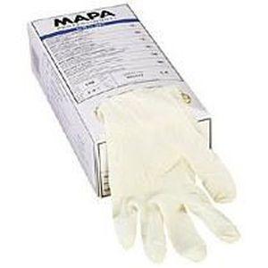 GANT MÉNAGE - VAISSELLE Paire de gants jetables Mapa latex poudré blanc...
