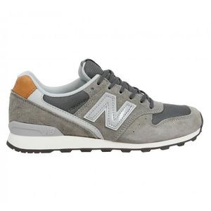 84ebe89937 Baskets NEW BALANCE 996 velours + toile Femme Gris clair - Achat ...